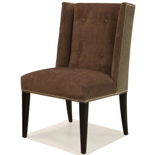 BeModern 1321 Upholstered Side Dining Chair with Tufting Detail