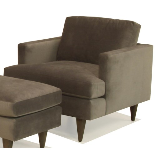 BeModern Sterling Upholstered Chair with Track Arm