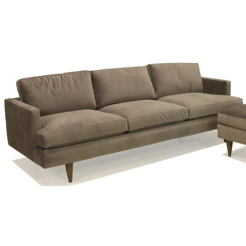 BeModern Sterling Upholstered Stationary Sofa with Track Arm