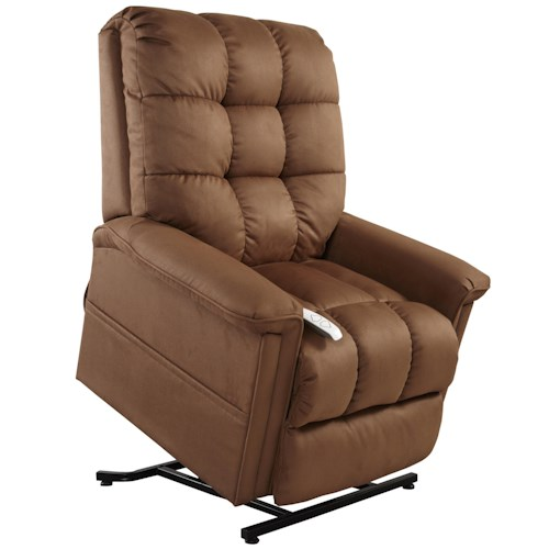 Mega Motion Lift Chairs 3-Position Power Reclining Lift Chair with Biscuit Back