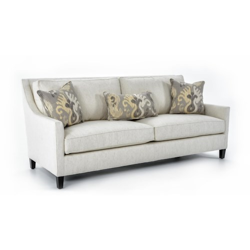 Miles Talbott Lincoln Contemporary Two Cushion Sofa with Framed Back