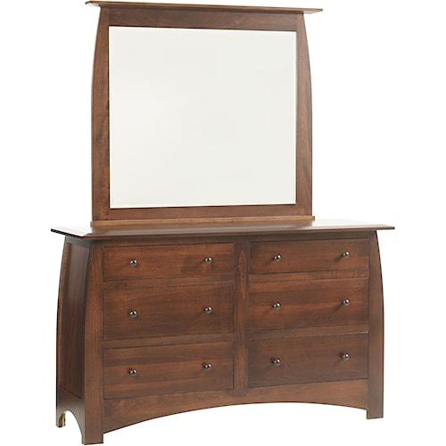 Rotmans Amish Davidson Meadow Drawer Dresser w/ Mirror