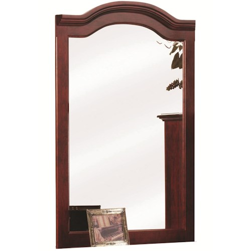 Rotmans Amish Elegant River Bend Mirror with Rounded Top