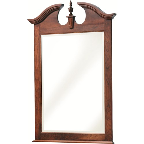 Rotmans Amish Elegant River Bend Mirror with Decoratively Arched Top