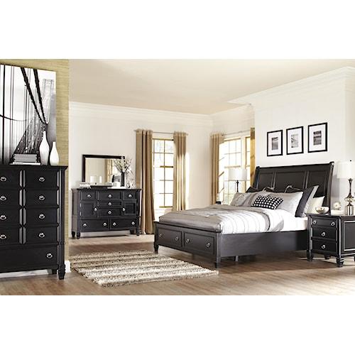 Millennium Greensburg Queen Sleigh Bedroom Group 2