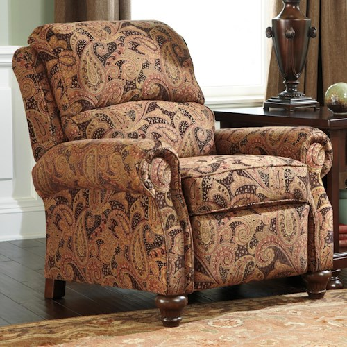 Signature Design by Ashley Hutcherson  Traditional Low Leg Recliner Accent Chair