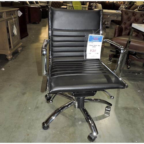 Miscellaneous     Black and Chrome Desk Chair