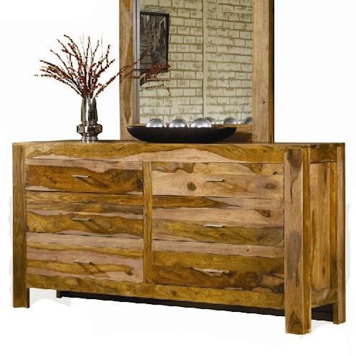 Modus International Atria Contemporary Six Drawer Solid Wood Dresser