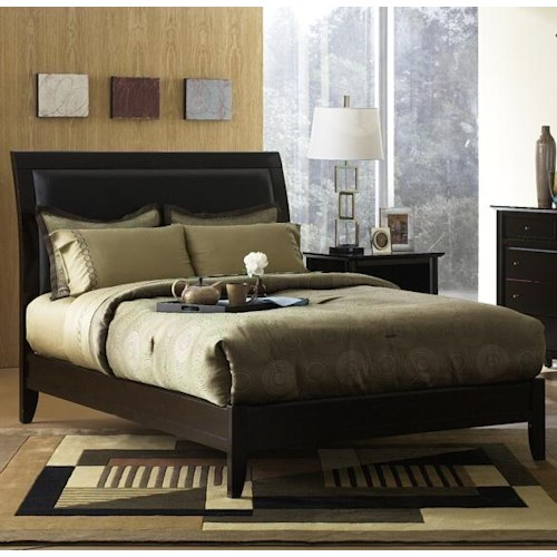 Modus International City II Queen Upholstered Low Profile Sleigh Bed