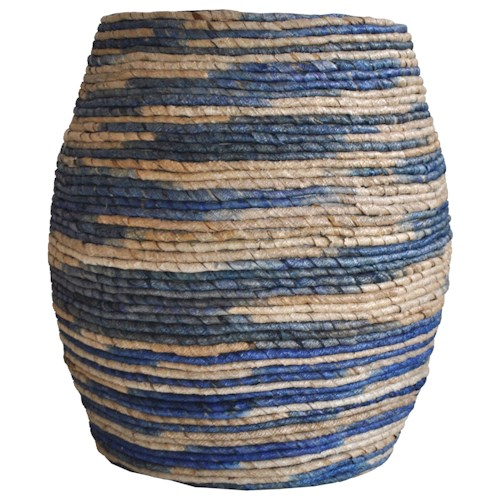 Moe's Home Collection Abaca  Drum Stool Blue