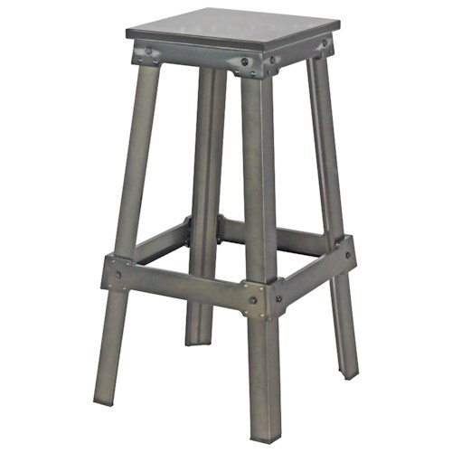 Moe's Home Collection Amelie Steel Bistro Bar Stool Black