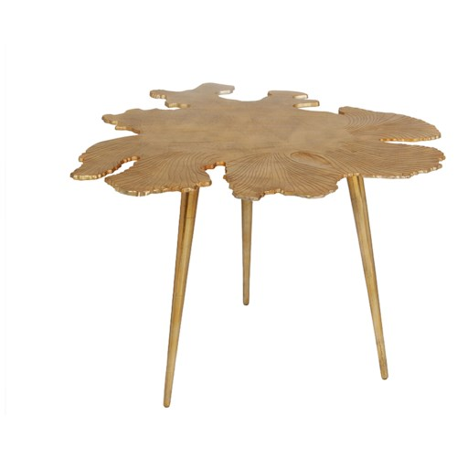 Moe's Home Collection Amoeba   Side Table Gold
