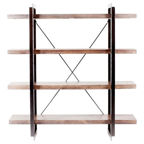 Moe's Home Collection Tiburon Open Bookcase with 4 Shelves