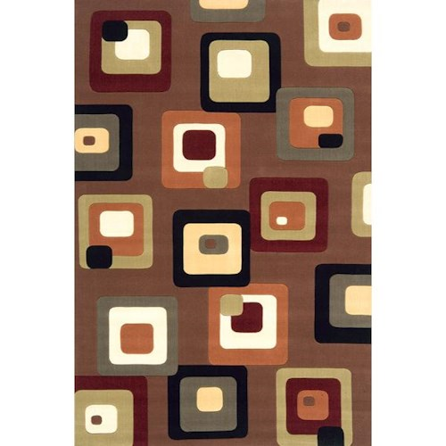 Momeni Eclectic X 5 x 8 Area Rug : Brown
