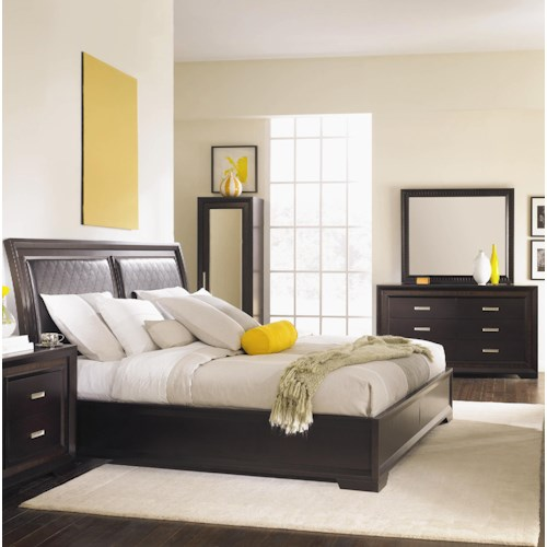 Najarian Brentwood 5 Piece King Upholstered Bedroom Set