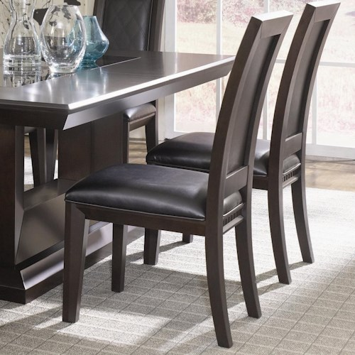 Najarian Brentwood Upholstered Seat Side Chair