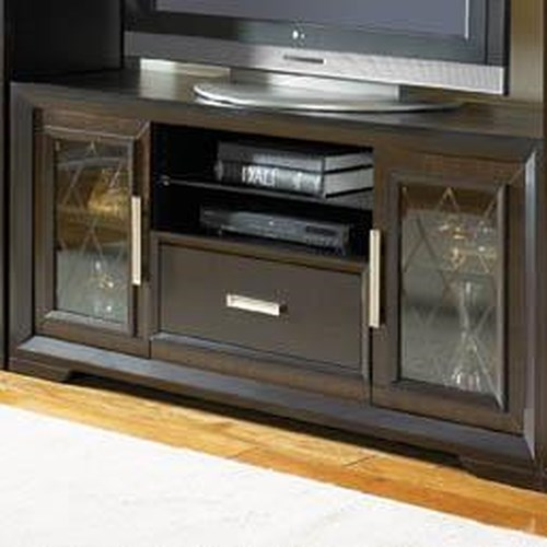 Najarian Brentwood TV Stand with Etched Glass Doors