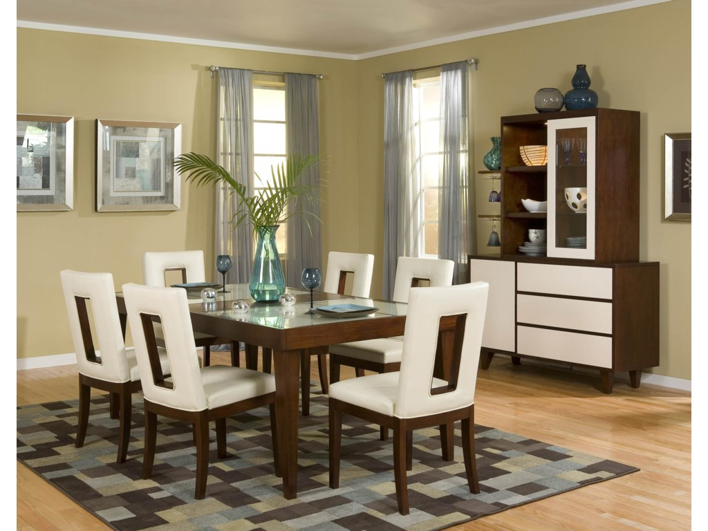 Shown with Side Chairs and China Cabinet