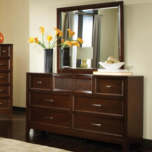 Najarian Melrose  6 Drawer Dresser with Mirror