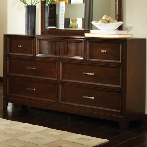 Najarian Melrose  Dresser With 6 Drawers and Frame Molding