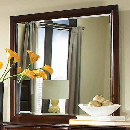 Najarian Melrose  Rectangular Mirror With Beveled Edges
