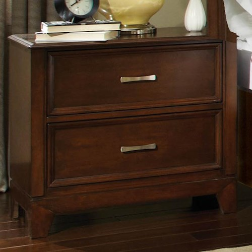 Najarian Melrose  Nightstand With 2 Drawers and Frame Molding