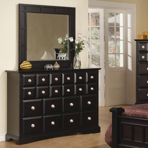 Najarian Palazzo Eight-Drawer Dresser & Mirror Set