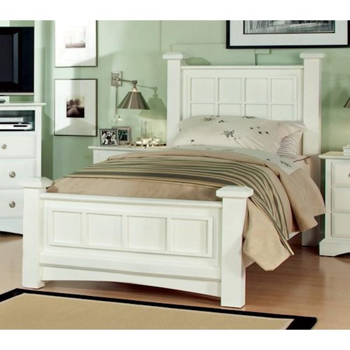 Najarian Palazzo Youth Bedroom Twin Low Post Panel Bed