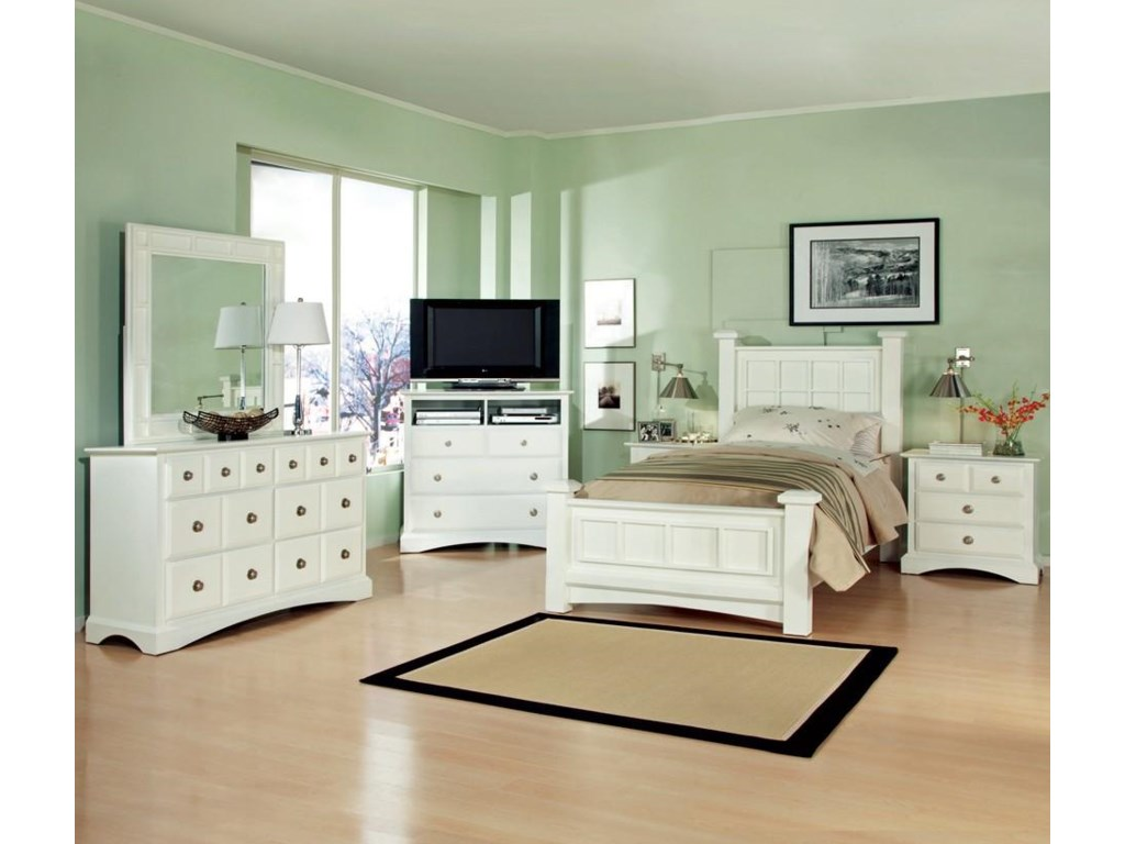 Shown with Dresser, Mirror, TV Chest and Nightstand