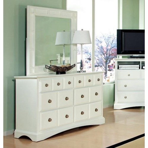 Najarian Palazzo Youth Bedroom Six-Drawer Youth Dresser and Mirror Set