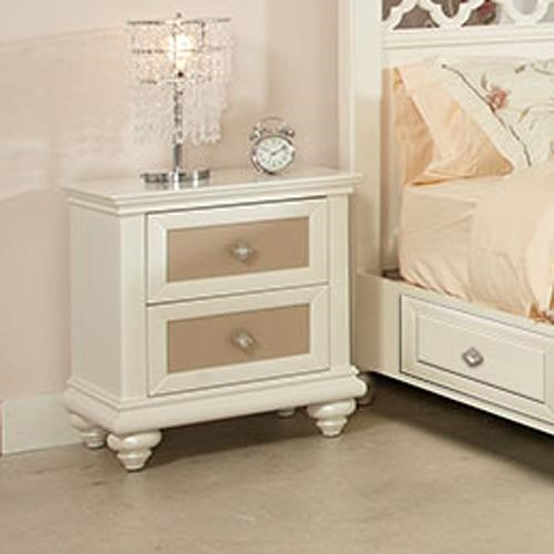 Najarian Paris Youth Bedroom Two Drawer Nightstand with Reversible Drawer Panels