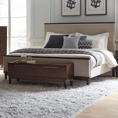 Najarian Rodeo Queen Bed with Leather-Like Upholstery