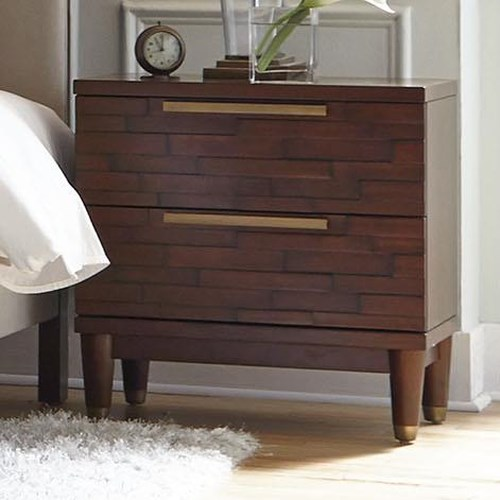 Najarian Rodeo Contemporary Nightstand with Two Drawers