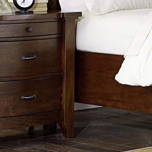 Napa Furniture Designs Whistler Retreat Solid Mango 3 Drawer Nightstand
