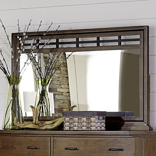 Napa Furniture Designs Whistler Retreat Mirror with Metal Accent