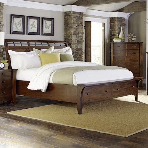 Napa Furniture Designs Whistler Retreat Solid Mango Queen Storage Bed