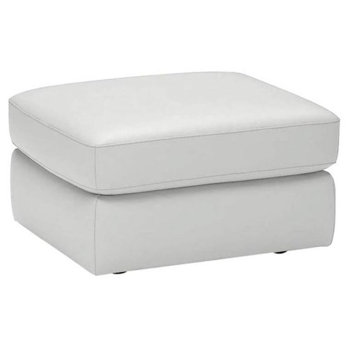 Natuzzi Editions A397 Contemporary Leather Ottoman