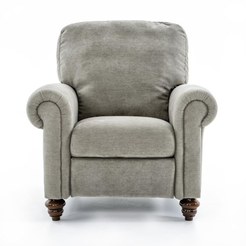 Natuzzi Editions A855 Traditional Upholstered Recliner