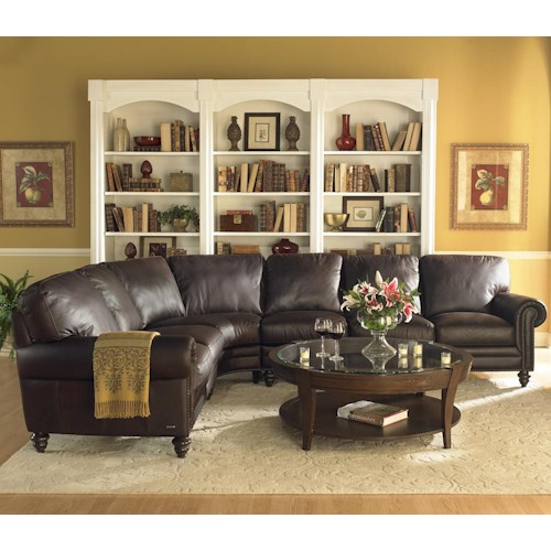 Natuzzi Editions A855 7-Seat Traditional Sectional