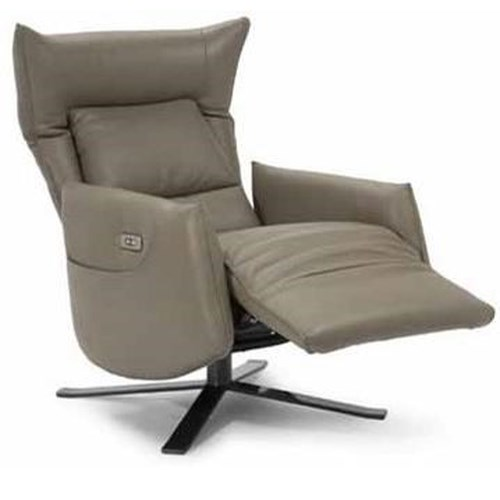 Natuzzi Editions Arianna Contemporary Power Recliner with Metal Base