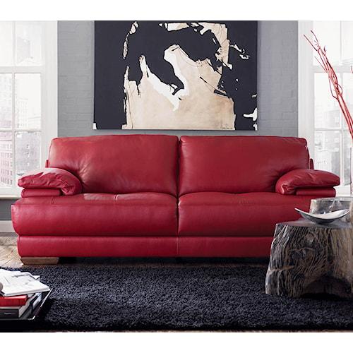 Natuzzi Editions B504 Stationary Leather Sofa
