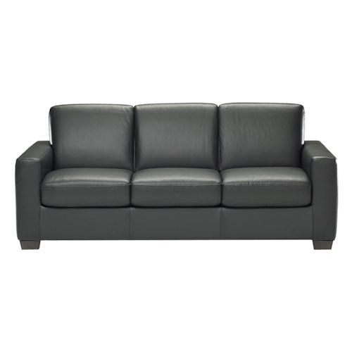 Natuzzi Editions B534 Stationary Leather Sofa