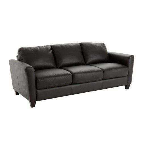 Natuzzi Editions B592 Contemporary Queen Sleeper with Flair Tapered Arms