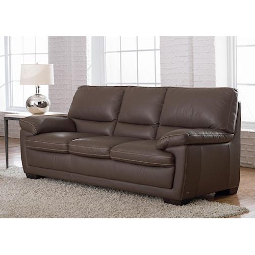 Natuzzi Editions B674 Leather Stationary Sofa
