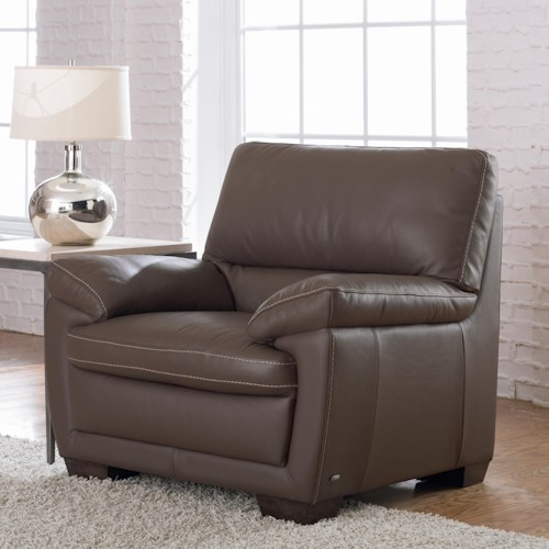 Natuzzi Editions B674 Plush Leather Chair
