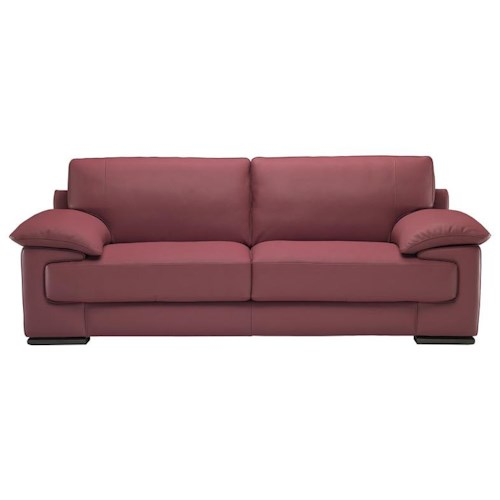 Natuzzi Editions B684 Contemporary Stationary Sofa with Low Pillow Arm