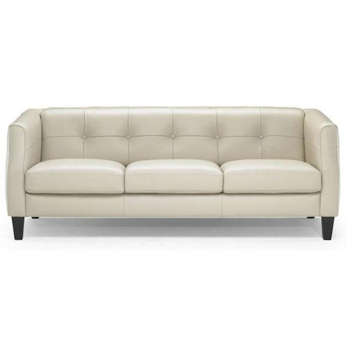Natuzzi Editions B729 Transitional Sofa with Tuxedo Arms