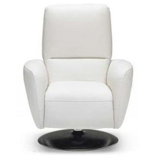 Natuzzi Editions B769 Contemporary Recliner with Pedestal Base