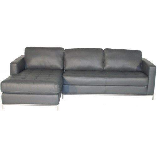 Natuzzi editions b805 left arm facing sofa chaise with for Button tufted chaise settee