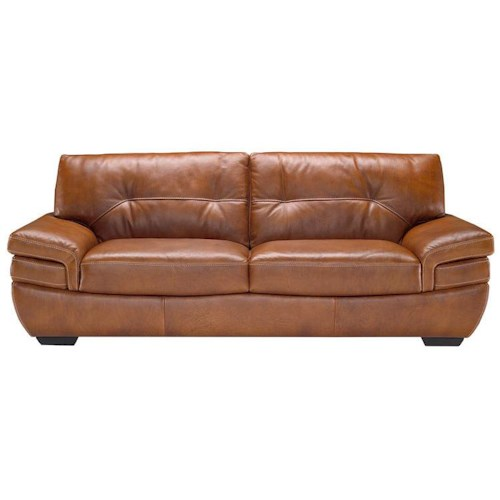 Natuzzi Editions B806 Contemporary 2-Seat Sofa with Tufted Back and Pillow Arms